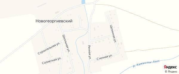 Речная улица на карте Новогеоргиевского поселка с номерами домов