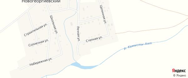 Степная улица на карте Новогеоргиевского поселка с номерами домов