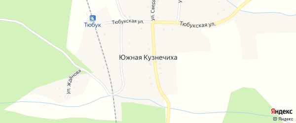 Поселок ТНПГ Кордон на карте поселка Южной Кузнечихи с номерами домов