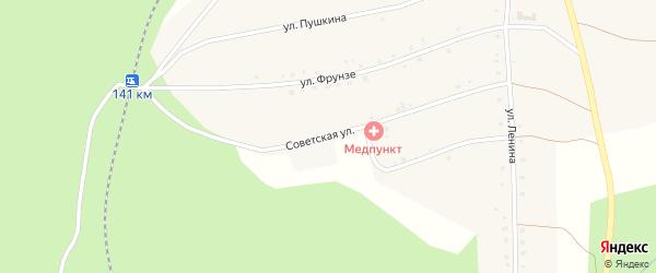 Советская улица на карте Северного поселка с номерами домов