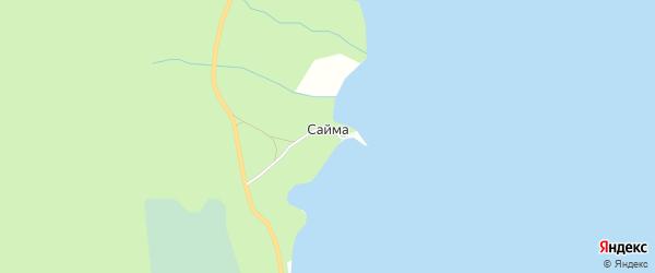 Карта хутора Саймы города Верхнего Уфалея в Челябинской области с улицами и номерами домов