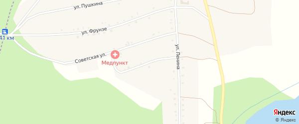Октябрьская улица на карте Северного поселка с номерами домов
