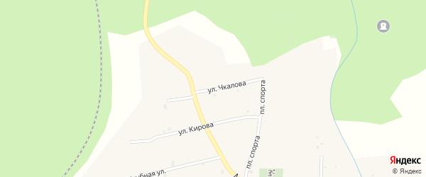 Улица Чкалова на карте Северного поселка с номерами домов