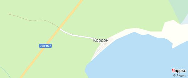 Дачная улица на карте хутора Кордона с номерами домов