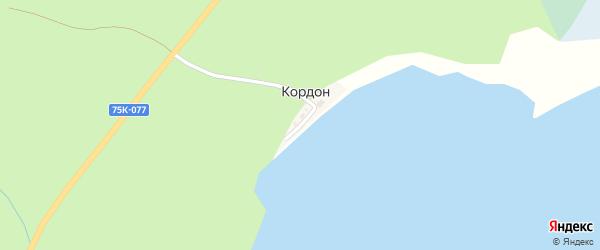 Береговая улица на карте хутора Кордона с номерами домов