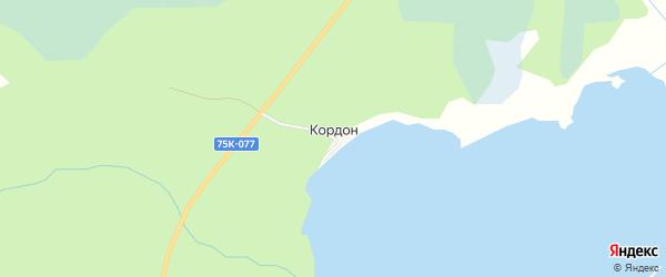 Карта хутора Кордона города Верхнего Уфалея в Челябинской области с улицами и номерами домов