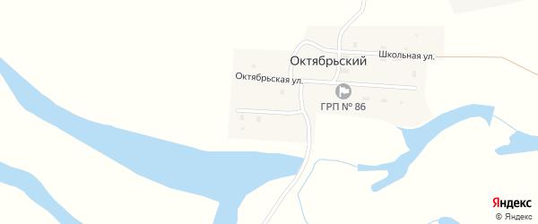 Набережный переулок на карте Октябрьского поселка с номерами домов