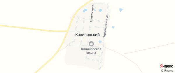 Карта Калиновского поселка в Челябинской области с улицами и номерами домов