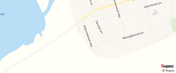 Юбилейный переулок на карте Черноборского поселка с номерами домов