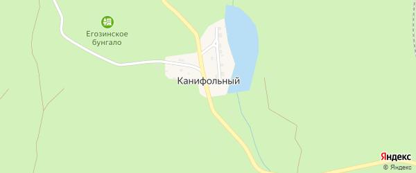 Улица Тихие пруды на карте Канифольного поселка с номерами домов