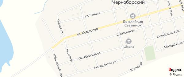 Солнечный переулок на карте Черноборского поселка с номерами домов