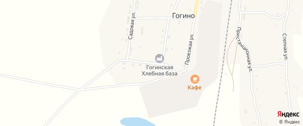 Лесная улица на карте поселка Гогино с номерами домов