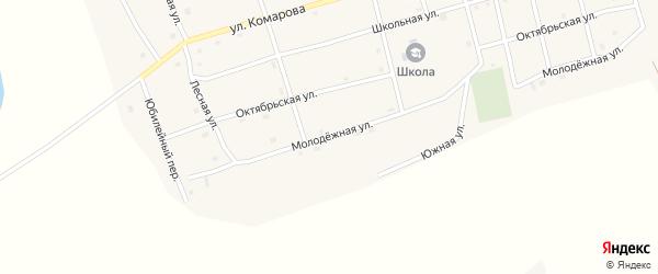 Молодежная улица на карте Черноборского поселка с номерами домов