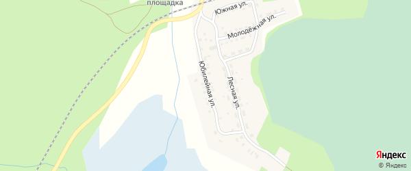 Юбилейная улица на карте поселка Тайгинки с номерами домов