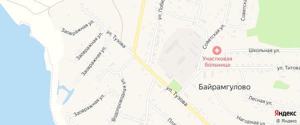 Улица Победы на карте села Байрамгулово с номерами домов