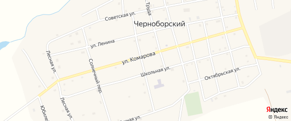 Улица Комарова на карте Черноборского поселка с номерами домов