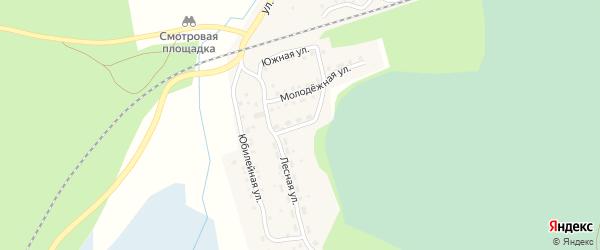 Комсомольская улица на карте поселка Тайгинки с номерами домов