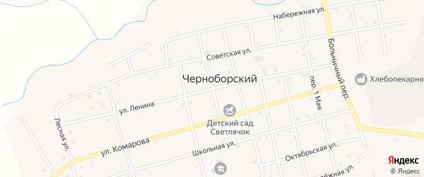 Переулок Труда на карте Черноборского поселка с номерами домов