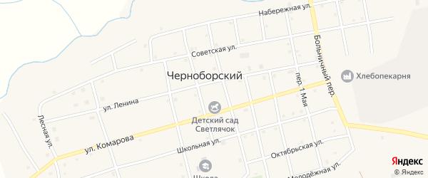 Улица Ленина на карте Черноборского поселка с номерами домов