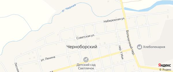 Советская улица на карте Черноборского поселка с номерами домов