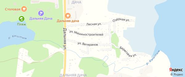 Территория ГСК Дальняя Дача НО на карте Кыштыма с номерами домов