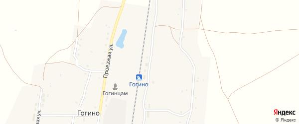 Пристанционная улица на карте поселка Гогино с номерами домов