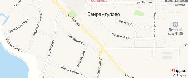 Улица Тузова на карте села Байрамгулово с номерами домов