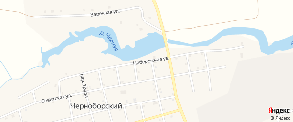 Набережная улица на карте Черноборского поселка с номерами домов