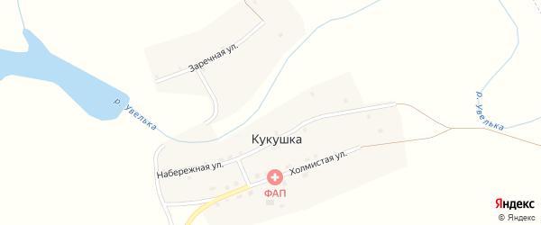 Заречная улица на карте села Кукушки с номерами домов