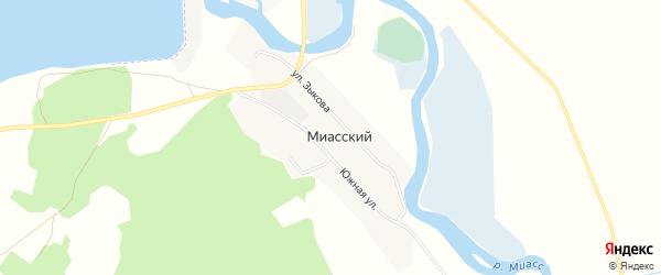 Карта Миасского поселка в Челябинской области с улицами и номерами домов