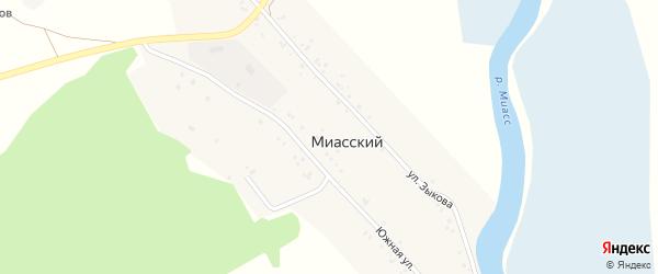 Южная улица на карте Миасского поселка с номерами домов