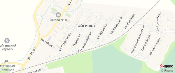 Увильдинская улица на карте поселка Тайгинки с номерами домов