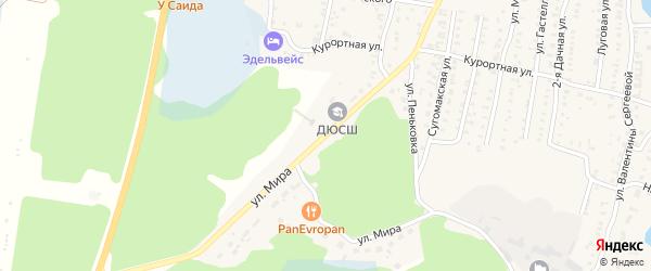 Улица Мира на карте Кыштыма с номерами домов