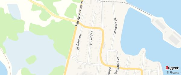 Улица Щорса на карте Кыштыма с номерами домов