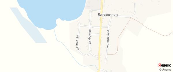 Лесная улица на карте деревни Барановки с номерами домов