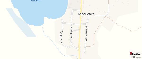 Улица Фрунзе на карте деревни Барановки с номерами домов
