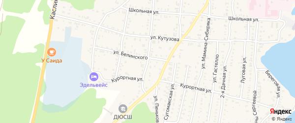 Улица Пеньковка на карте Кыштыма с номерами домов