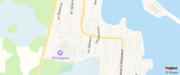 Улица Шмидта на карте Кыштыма с номерами домов