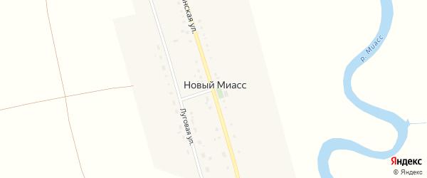 Луговая улица на карте деревни Нового Миасса с номерами домов