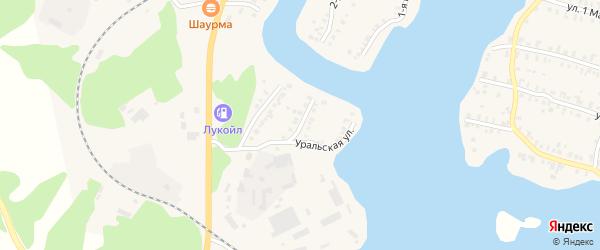 Уральская улица на карте Кыштыма с номерами домов