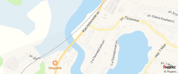 Улица Деньщикова на карте Кыштыма с номерами домов