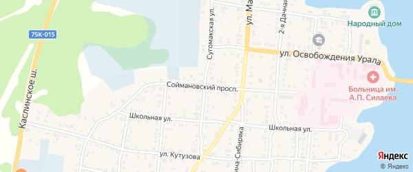 Улица Соймановский проспект на карте Кыштыма с номерами домов