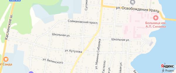 Школьная улица на карте Кыштыма с номерами домов