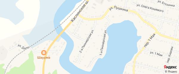 Пионерская 2-я улица на карте Кыштыма с номерами домов