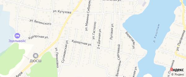 Улица Гастелло на карте Кыштыма с номерами домов
