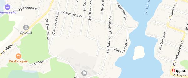 Карабашская улица на карте Кыштыма с номерами домов