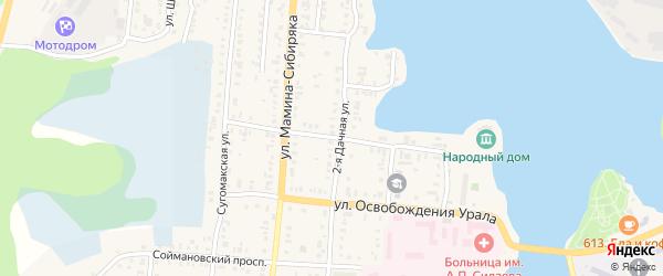 Театральная улица на карте Кыштыма с номерами домов