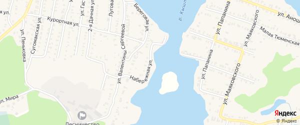 Набережная улица на карте Кыштыма с номерами домов