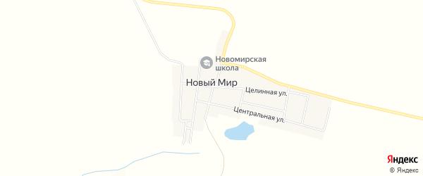 Карта поселка Нового Мира в Челябинской области с улицами и номерами домов