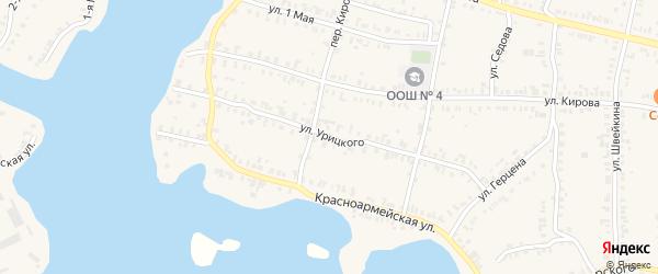 Улица Урицкого на карте Кыштыма с номерами домов